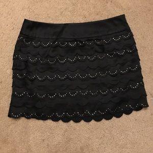 Bebe Black Silk Skirt size 0